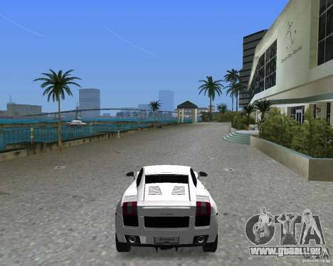 Lamborghini Gallardo für GTA Vice City linke Ansicht