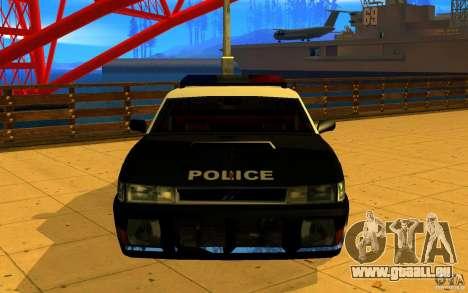 Sultan SFPD pour GTA San Andreas sur la vue arrière gauche