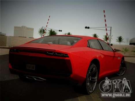 Lamborghini Estoque Concept 2008 für GTA San Andreas Rückansicht
