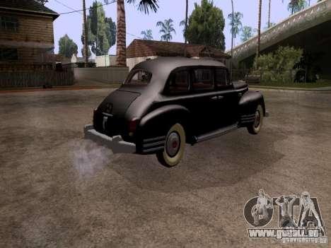 ZiS 110 pour GTA San Andreas sur la vue arrière gauche