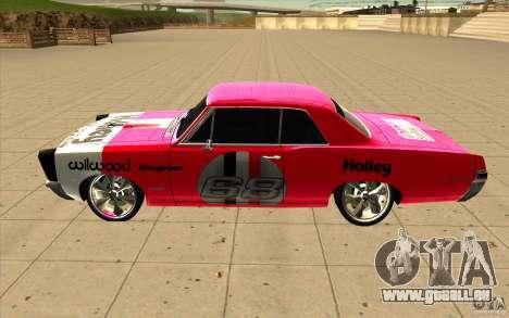 Pontiac GTO 1965 NFS Pro Street nouveaux vinyls pour GTA San Andreas laissé vue