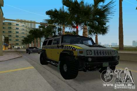 Hummer H2 SUV Taxi pour GTA Vice City