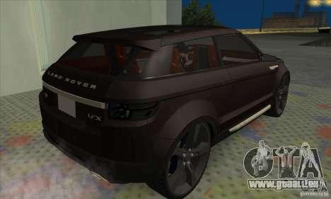 Land Rover LRX für GTA San Andreas zurück linke Ansicht