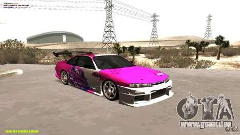Nissan Silvia S14 kuoki RDS für GTA San Andreas Innenansicht