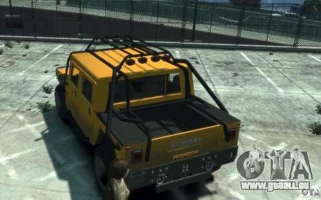 Hummer H1 4x4 Extras für GTA 4 rechte Ansicht