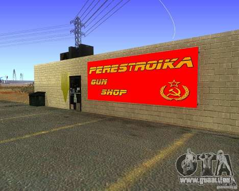 Stocke la restructuration pour GTA San Andreas deuxième écran