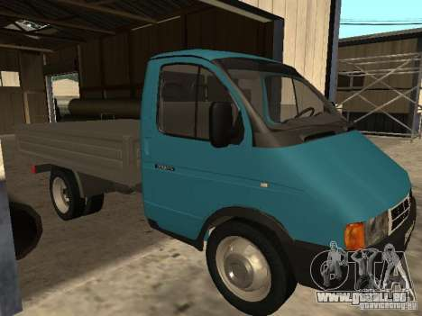 GAZ 33021 pour GTA San Andreas laissé vue