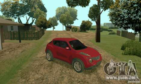 Nissan Juke pour GTA San Andreas laissé vue