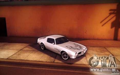 Pontiac Firebird 1970 pour GTA San Andreas vue de dessus