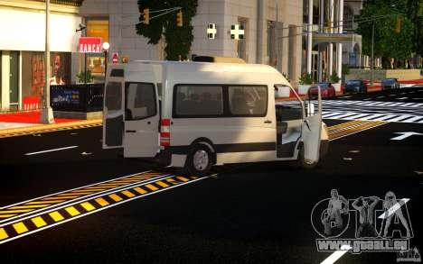 Mercedes-Benz Sprinter Passenger pour GTA 4 est une vue de l'intérieur