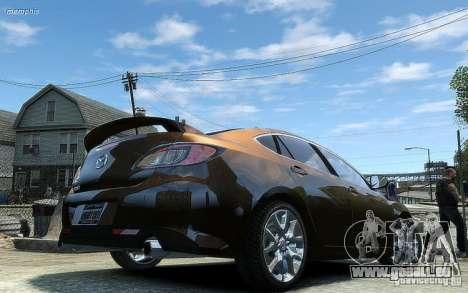 Mazda 6 2008 pour GTA 4 Vue arrière