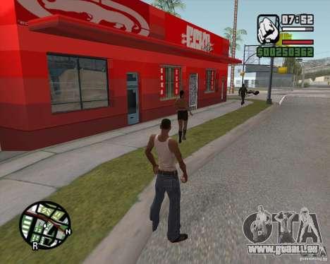 Boutique Ecko pour GTA San Andreas troisième écran