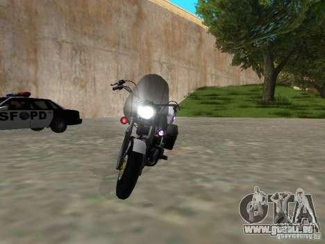 Harley Davidson Dyna Defender pour GTA San Andreas sur la vue arrière gauche