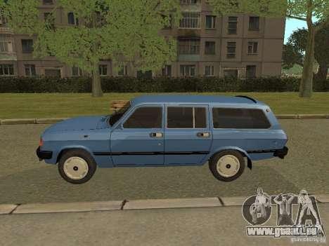 GAZ Wolga 31022 für GTA San Andreas zurück linke Ansicht