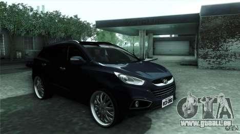 Hyundai iX35 Edit RC3D pour GTA San Andreas vue arrière