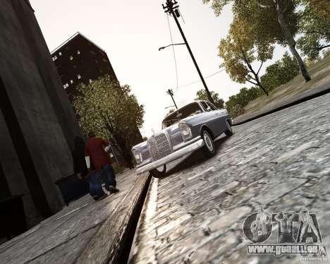 Mercedes-Benz W111 für GTA 4 Rückansicht