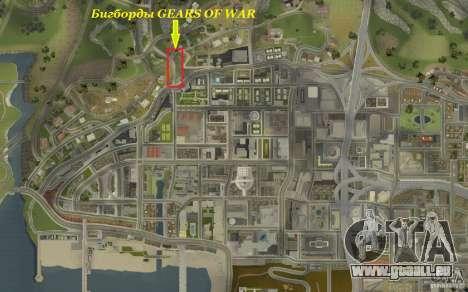 Werbetafeln In GEARS OF WAR für GTA San Andreas her Screenshot