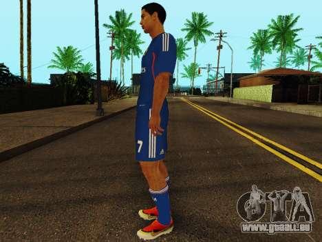 Cristiano Ronaldo v2 pour GTA San Andreas troisième écran