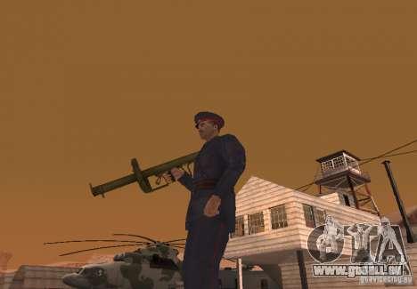 Panzerschreck pour GTA San Andreas deuxième écran