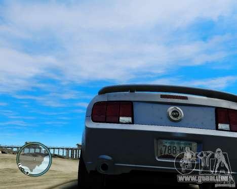 Ford Mustang GT 2005 v1.2 pour GTA 4 Vue arrière de la gauche