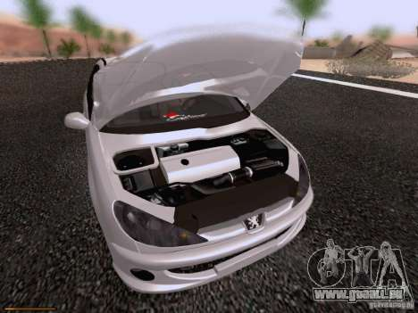 Peugeot 206 für GTA San Andreas obere Ansicht