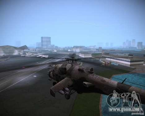 Mi-35 pour GTA Vice City sur la vue arrière gauche