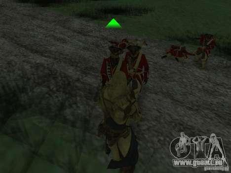 Connor From ACIII für GTA San Andreas siebten Screenshot