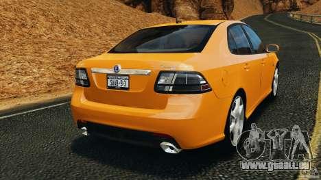 Saab 9-3 Turbo X 2008 pour GTA 4 Vue arrière de la gauche