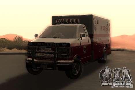 Ambulance de GTA 4 pour GTA San Andreas sur la vue arrière gauche