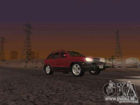Hyundai Santa Fe Classic pour GTA San Andreas sur la vue arrière gauche