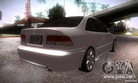 Honda Civic Si pour GTA San Andreas vue de droite