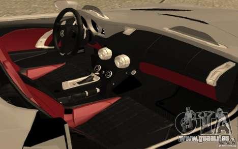 Mercedes-Benz SLR McLaren Stirling Moss pour GTA San Andreas vue arrière