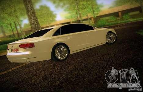 Audi A8 2010 pour GTA San Andreas vue de dessus