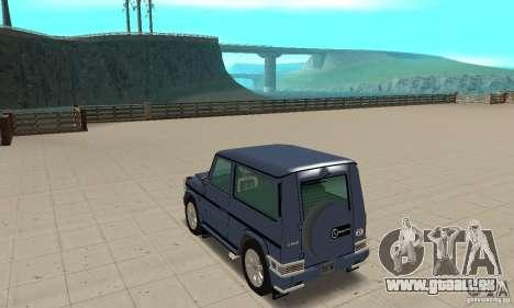 Mercedes-Benz G500 1999 Short [with kangoo v1] pour GTA San Andreas sur la vue arrière gauche