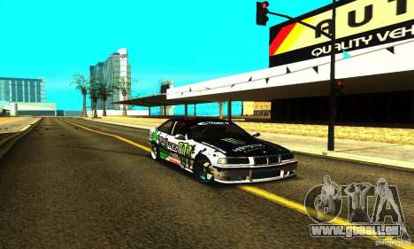 BMW E36 Drift pour GTA San Andreas vue intérieure
