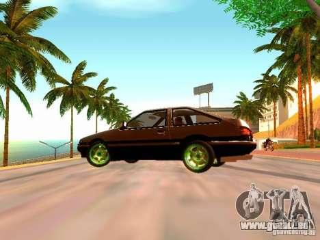 Toyota Corolla Carib AE86 pour GTA San Andreas sur la vue arrière gauche
