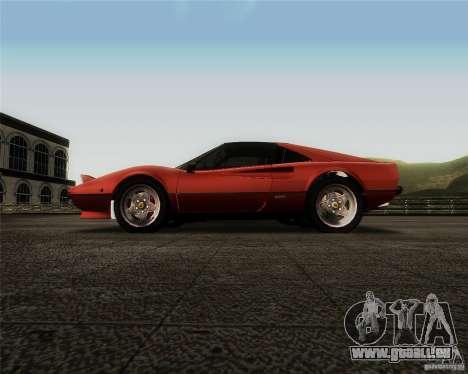 Ferrari 308 GTS Quattrovalvole pour GTA San Andreas vue intérieure