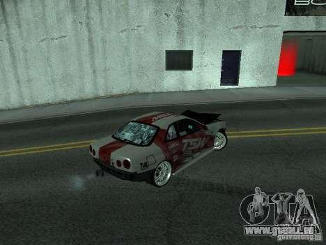 Nissan Skyline R 34 pour GTA San Andreas vue de côté