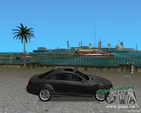 Mercedess Benz CL 65 AMG pour une vue GTA Vice City de la droite