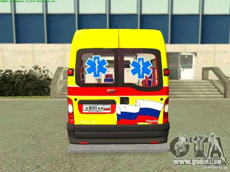 Renault Master rapide Samara pour GTA San Andreas sur la vue arrière gauche