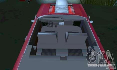 Chevrolet Impala 1963 Lowrider Charged für GTA San Andreas rechten Ansicht
