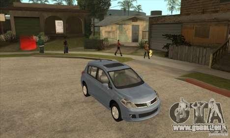 Nissan Tiida pour GTA San Andreas vue arrière