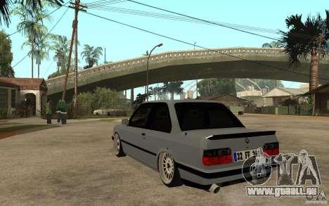 BMW E30 CebeL Tuning pour GTA San Andreas sur la vue arrière gauche