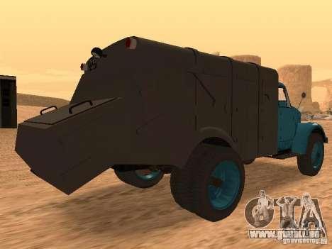 GAZ 51 Müllwagen für GTA San Andreas rechten Ansicht