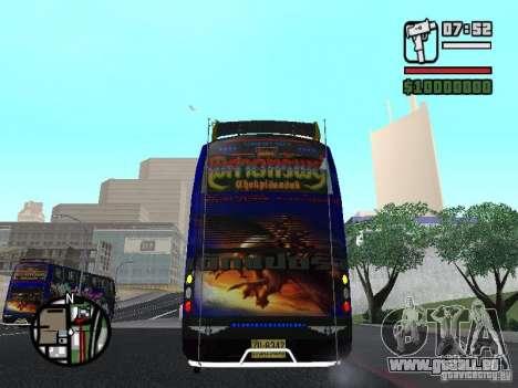 Neoplan pour GTA San Andreas vue intérieure