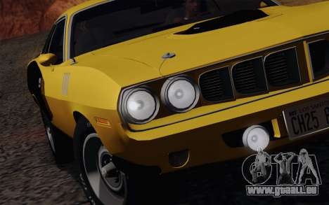 Plymouth Hemi Cuda 426 1971 pour GTA San Andreas vue de dessous