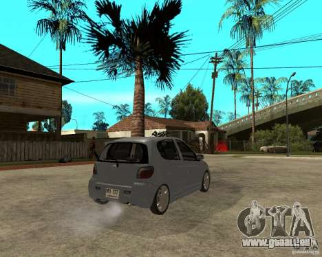 Toyota Vitz pour GTA San Andreas sur la vue arrière gauche