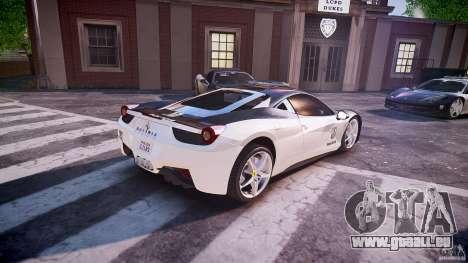 Ferrari 458 Italia - Brazilian Police [ELS] für GTA 4 obere Ansicht