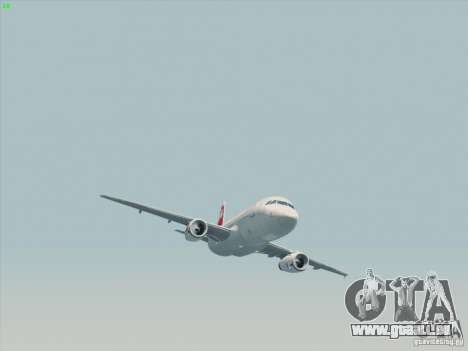 Airbus A319-112 Swiss International Air Lines für GTA San Andreas Rückansicht