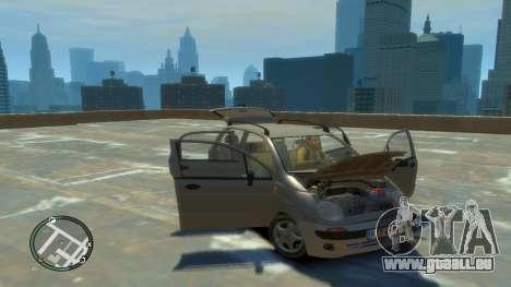 Daewoo Matiz Style 2000 für GTA 4 Rückansicht